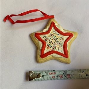 Vintage Holiday - 1996 star shaped cookie Christmas tree ornament